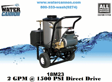 Water Cannon Pressure Washer Specs